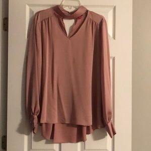 NWT Vince Camuto long sleeve rose gold shirt